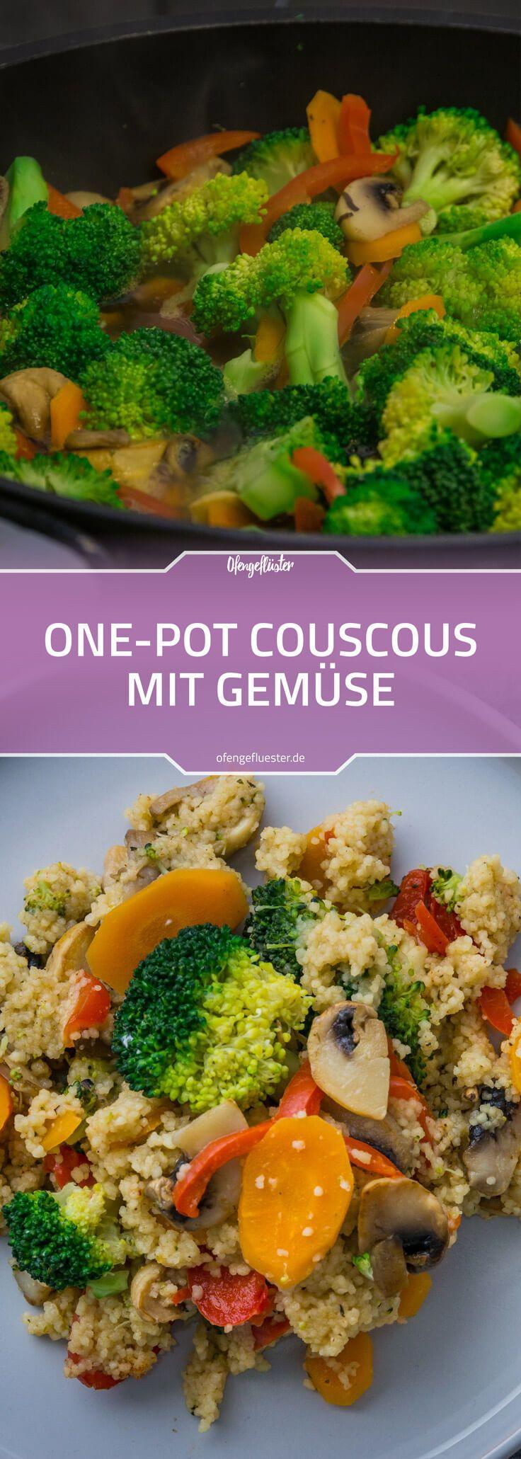 One-Pot-Couscous mit Gemüse #vejetaryentarifleri