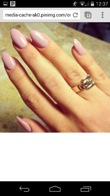 Soft Mountain Peak Nails With A Simple And Soft Pink Color Nails