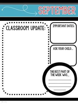 Newsletter Templates For The Classroom Bright And Basic