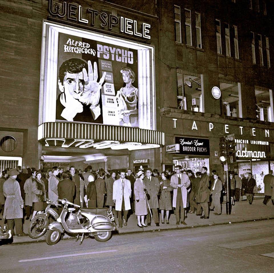 1960 Uraufführung des Filmes Psycho von Alfred Hitchcock