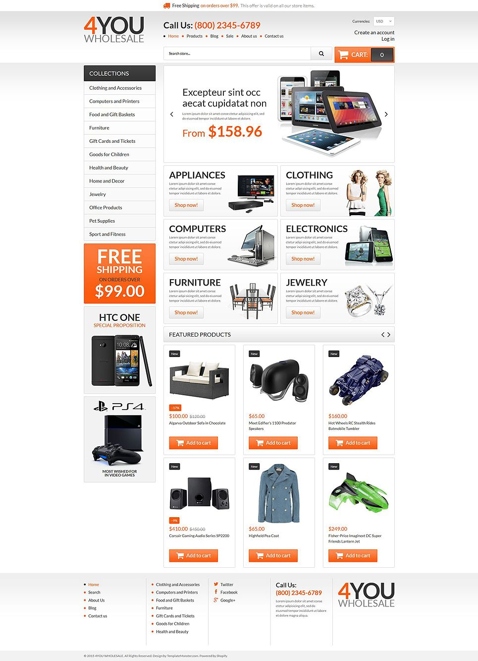 Wholesale store responsive shopify theme pronofoot35fo Image collections