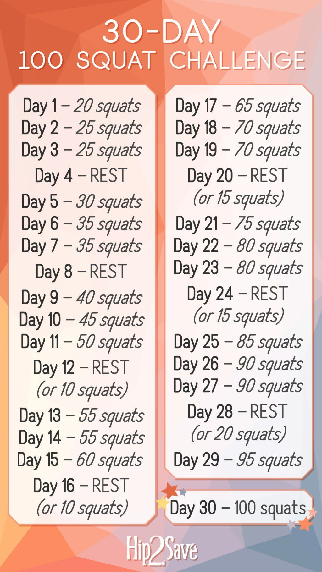 How To Do Perfect Squats Plus Our 30 Day 100 Squat