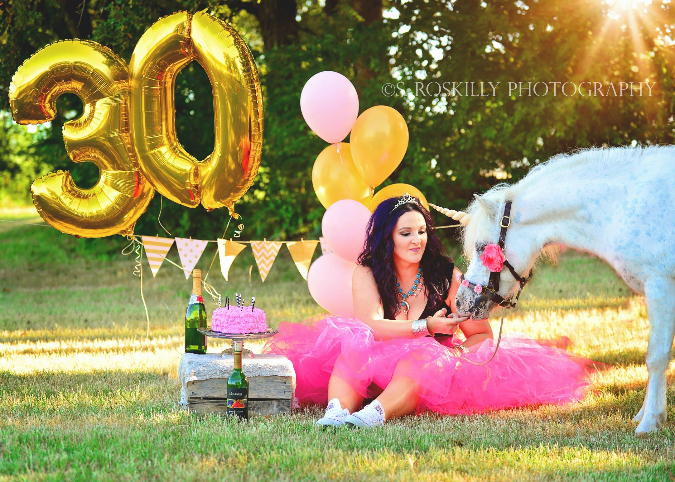 30th Birthday Dirty 30 Session Photography Pony Unicorn Cake Smash Fairy Tale Shoot Thirty