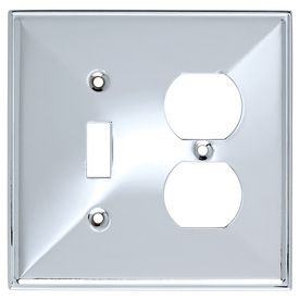 Allen And Roth Wall Plates Unique Brainerd 2Gang Polished Chrome Combination Stainless Steel Wall Design Ideas