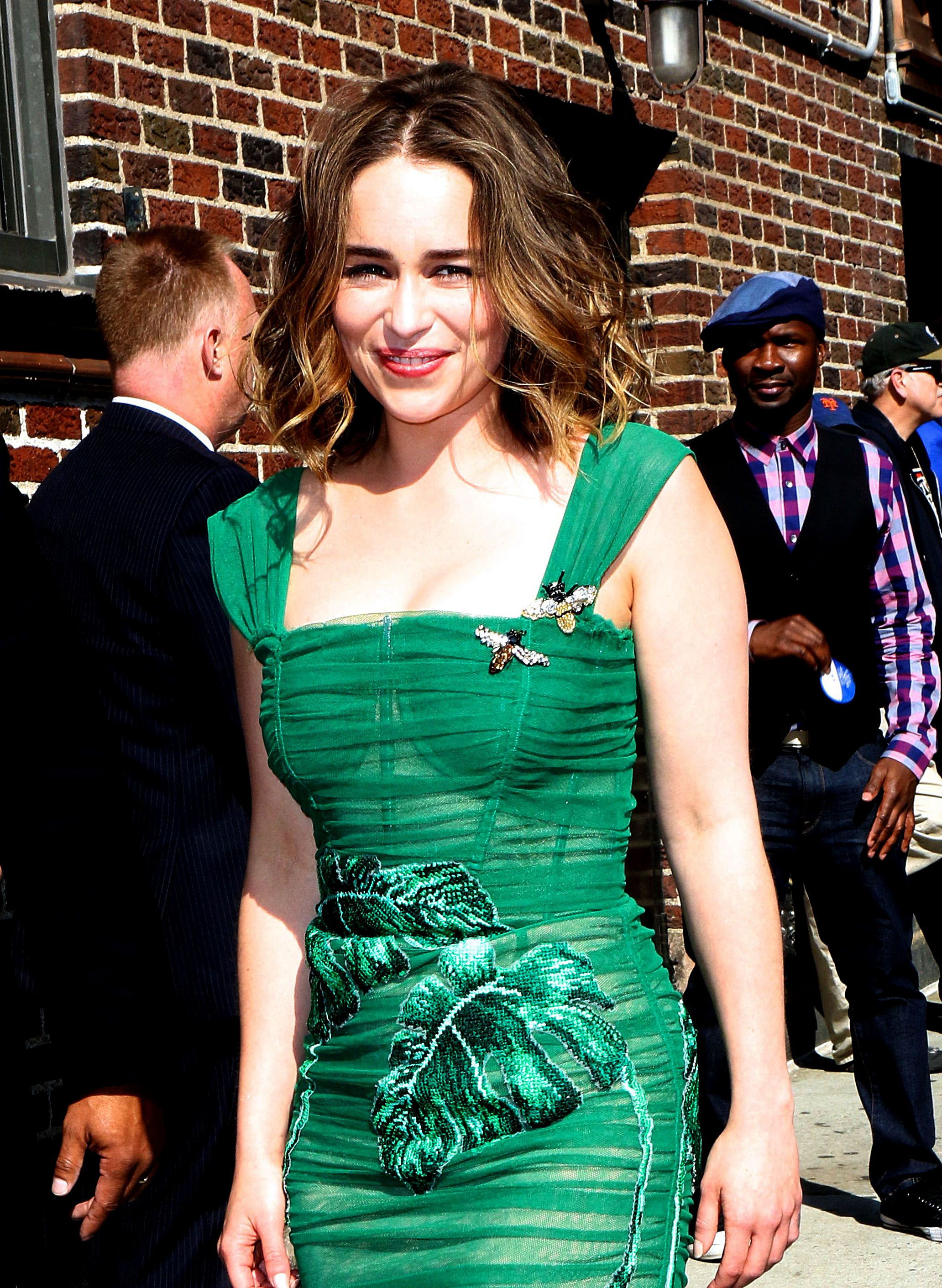 Emilia Clarke at the Ed Sullivan Theater in New York City, 05/23/16