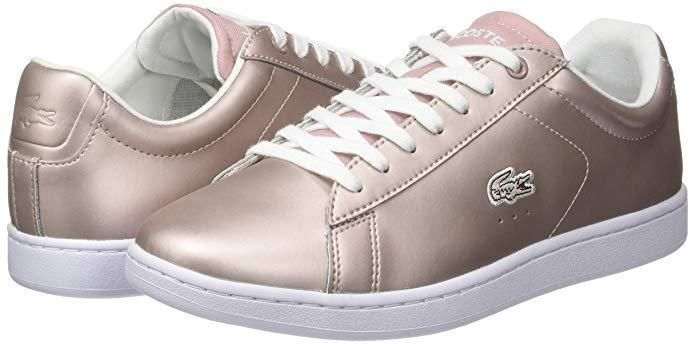00d5fdb286a4 Lacoste Women s Carnaby Evo 117 Leather Lace Up Trainer Light Pink-7   fashion  clothing  shoes  accessories  womensshoes  athleticshoes (ebay  link)