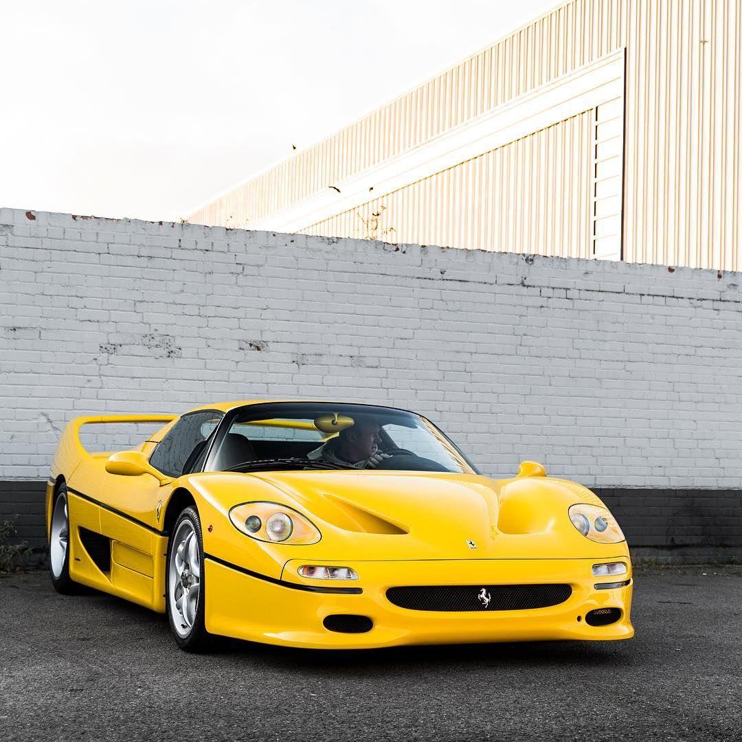 Ferrari F50 In Bright Yellow Italian Supercars Speed Power Performance Ferrari Ferrari Car Amazing Cars