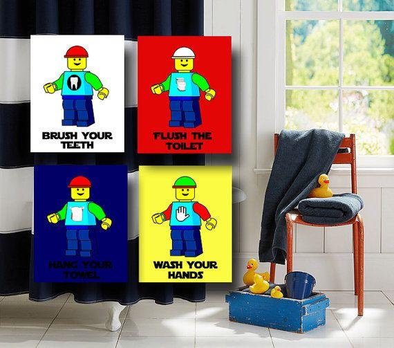 Legos Bathroom Wall Art Legos People By Heartworkmemories