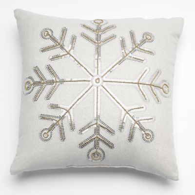 Kohls Decorative Pillows Beauteous Snowflakesquarepillowkohls  Stnicholas Square Christmas Inspiration