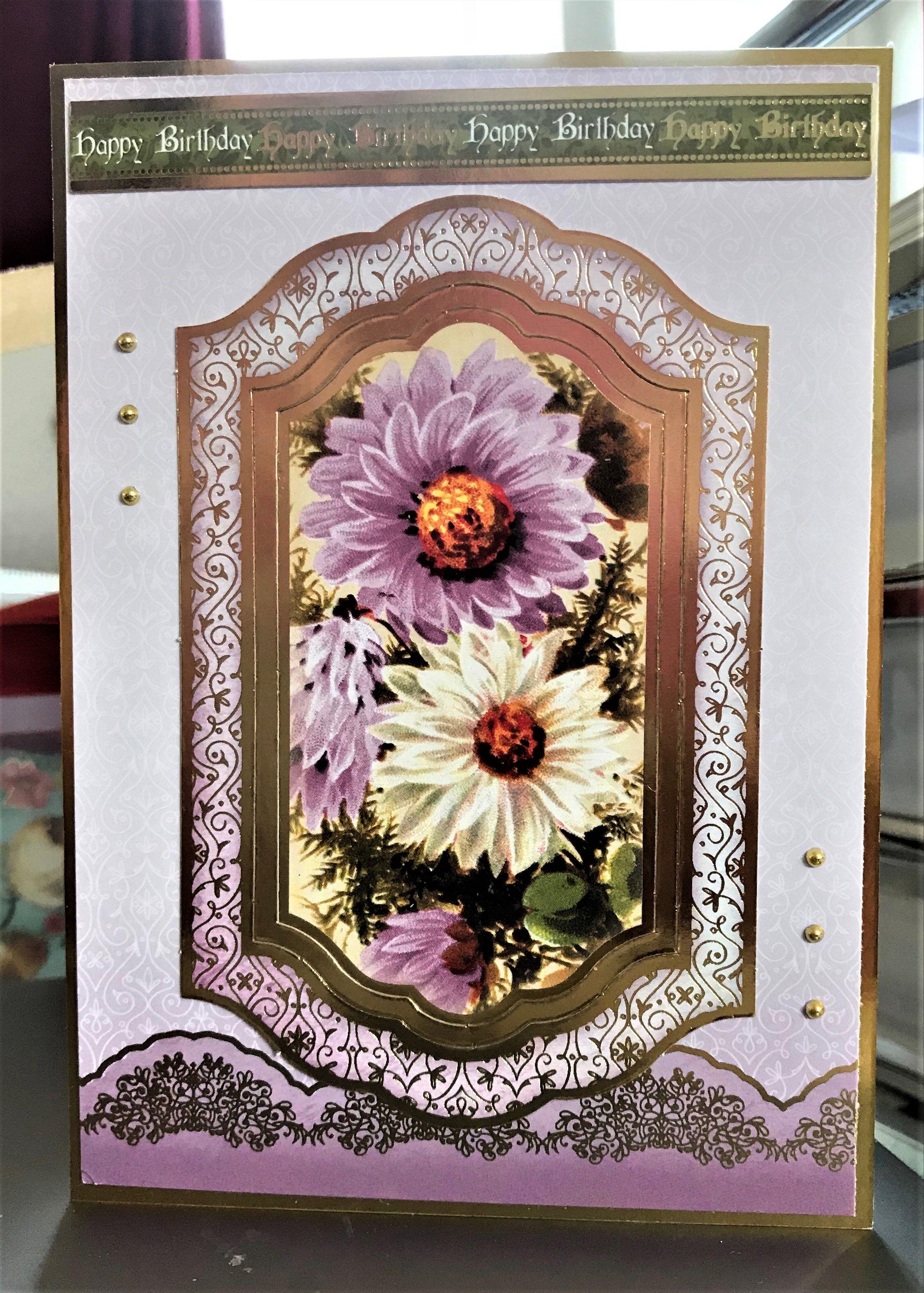 hunkydory birthday flowers x birthday card greeting