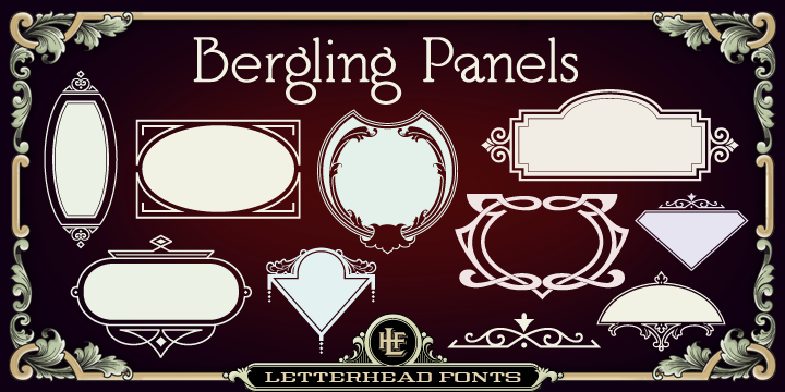 Download LHF Bergling Panels Font Download - An assortment of 42 ...