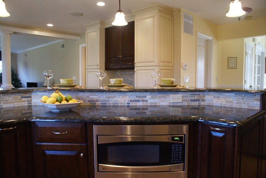 Two Tier Kitchen Island Picture Source · 2 Tiered Kitchen Island Power  Grommets Add Convenience To Part 61