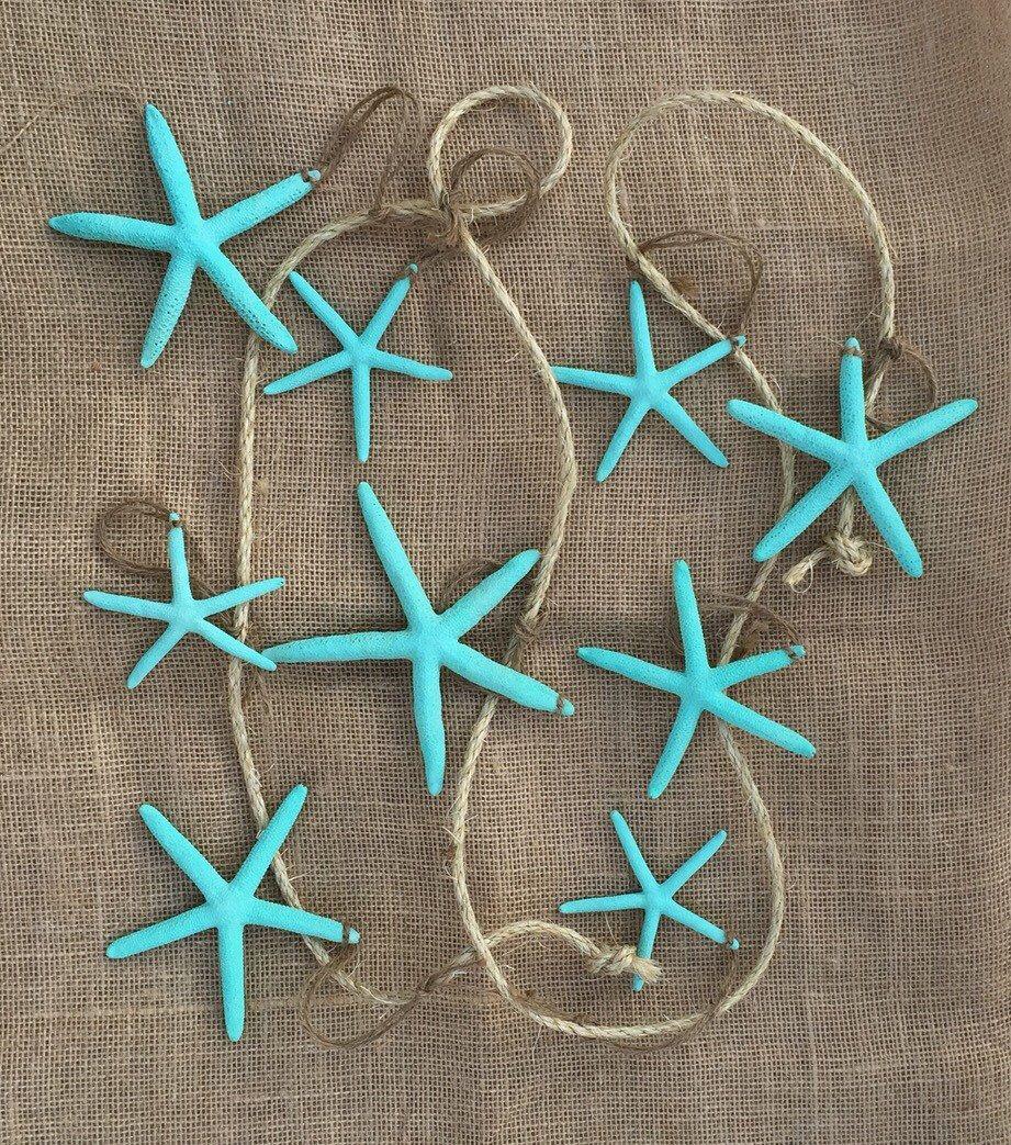 Wedding decorations house  Beach House Decor Beach Wedding Decor Turquoise Starfish Garland