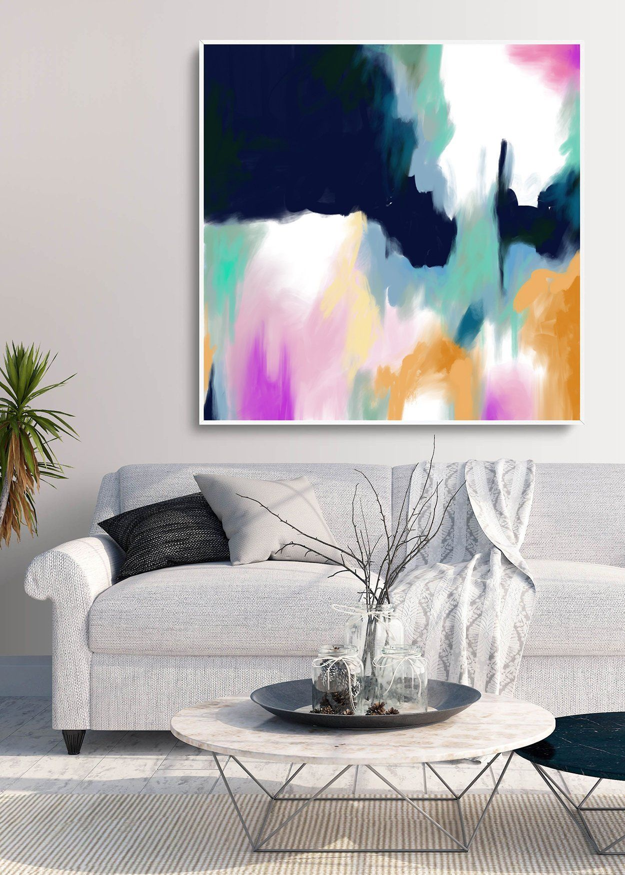 Abstract canvas art also original paintingextra large wall on hand