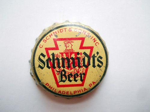 SCHMIDT'S BEER PA TAX CORK BOTTLE CAP PHILADELPHIA PA