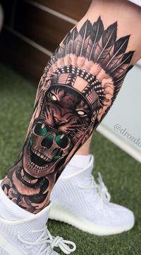 80 Tatuagens Masculinas na perna para você se inspirar - Top Tatuagens