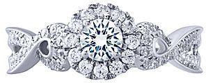 jcpenney FINE JEWELRY Opulent Diamond 5/8 CT. T.W. Diamond 14K White Gold Twist Ring on shopstyle.com