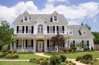 The White House Fertighaus white house blue shutters when i grow up blue