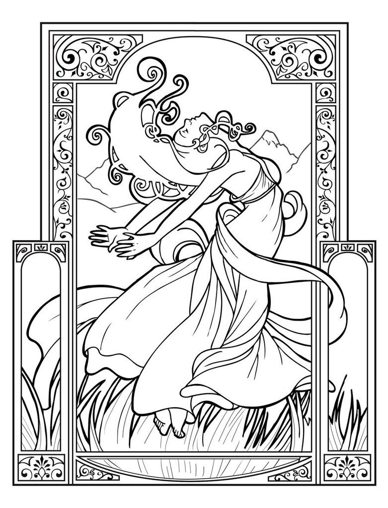 Wind By Dreamercal On Deviantart Coloring Book Art Coloring Pages Colorful Drawings