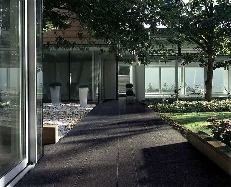 terrassenfliesen und balkonfliesen kologische fliese ecotech ecodark von floor gres. Black Bedroom Furniture Sets. Home Design Ideas