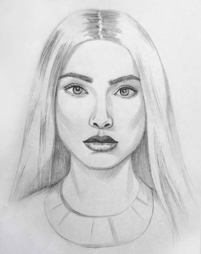 Slozhnye Risunki Dlya Srisovki Karandashom 50 Foto Prikolnye Kartinki I Pozitiv Face Sketch Perspective Art Face Drawing