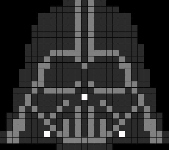 Star Wars Darth Vader Helmet Perler Bead Pattern Bead