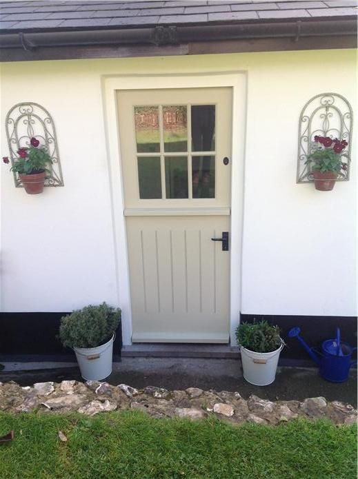 Door Fawn No 10 And Masonry Paint Wimborne White 239 By F B