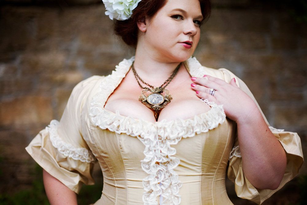 Plus Size Victorian Wedding Dress Corseted Jacket Steampunk Style ...