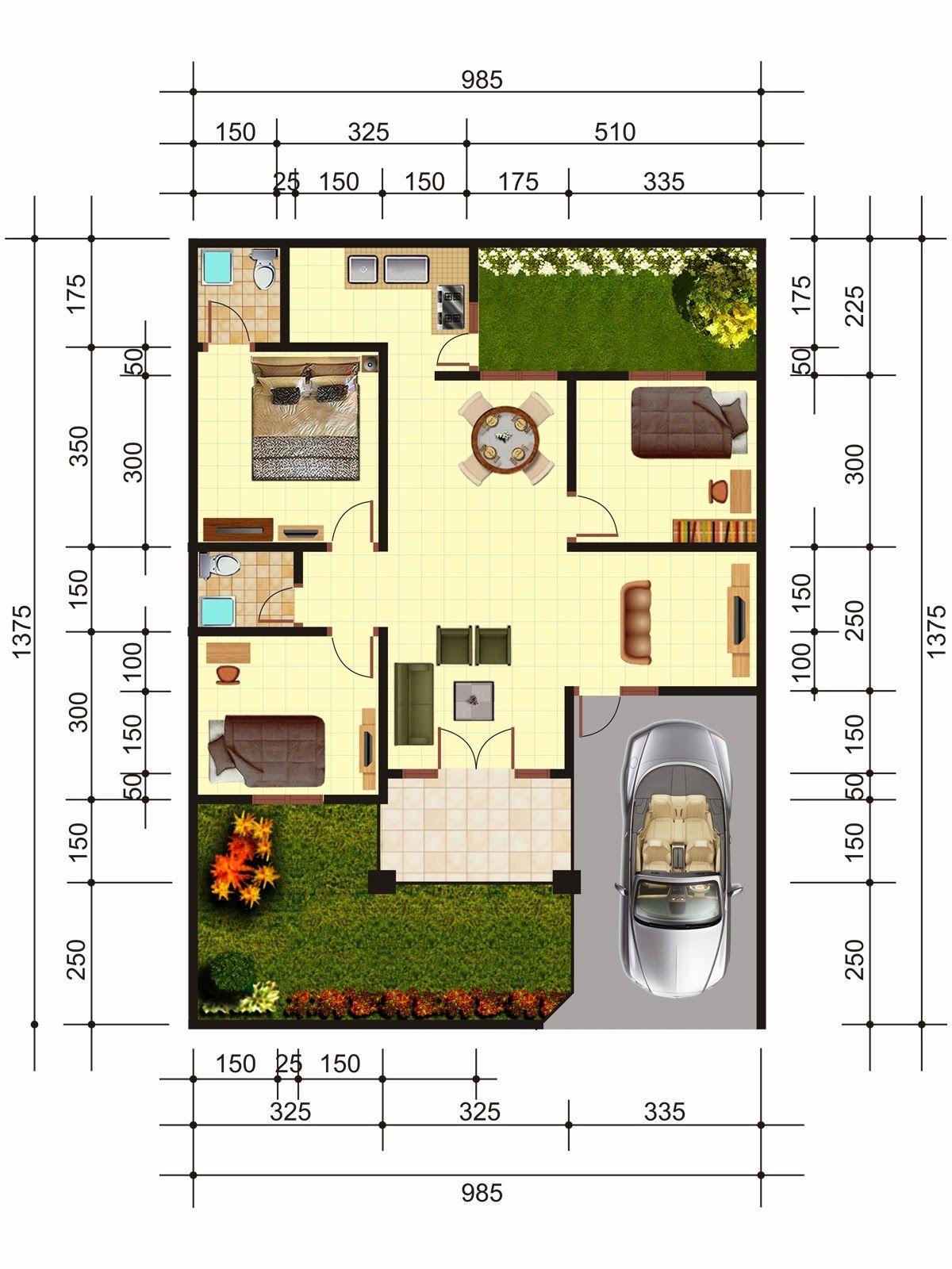 Denah Rumah Minimalis Terbaru Gambar Sederhana Rumah Idaman