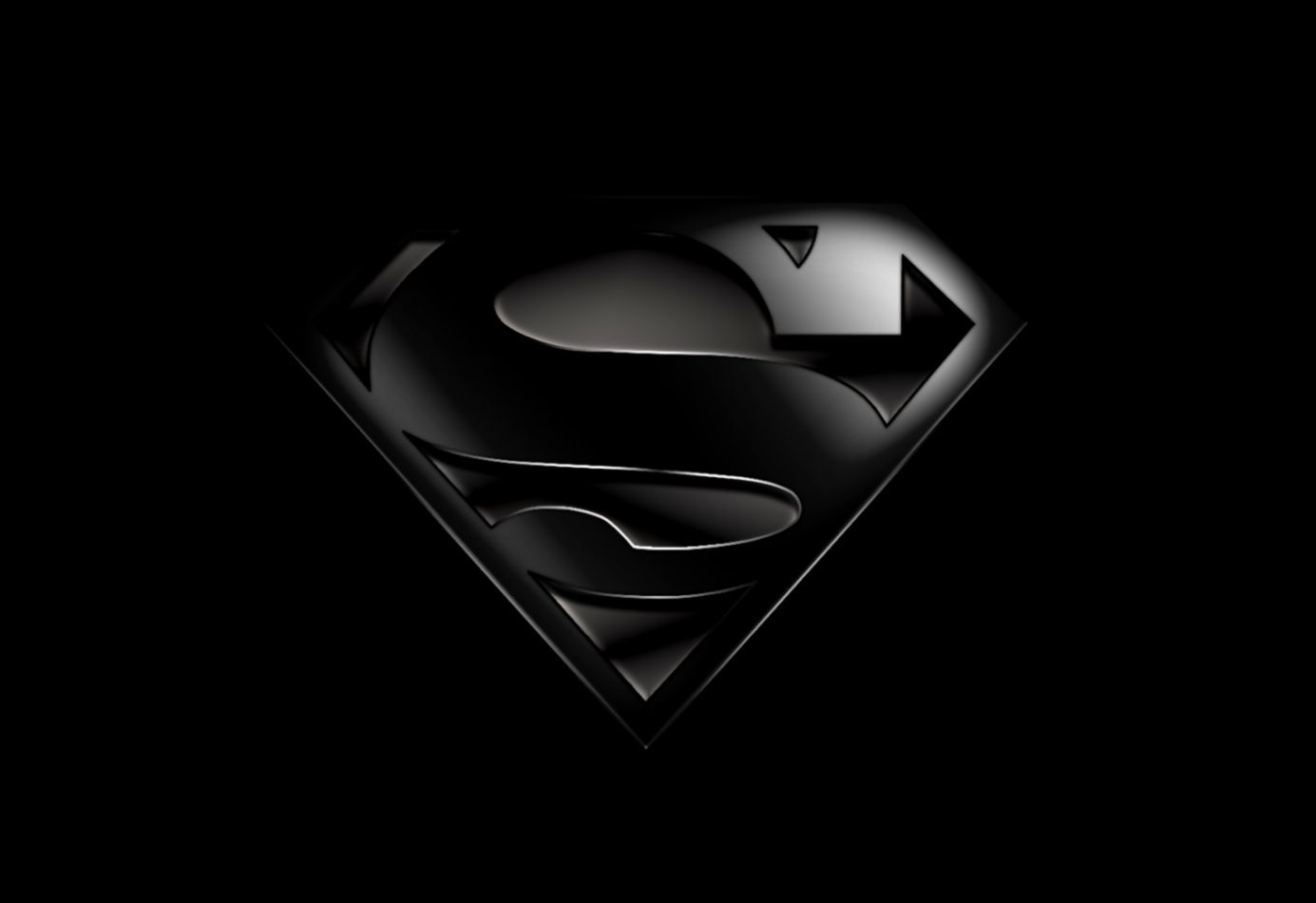 Superman Logo Wallpaper Black Full Hd Wallpapers Susi