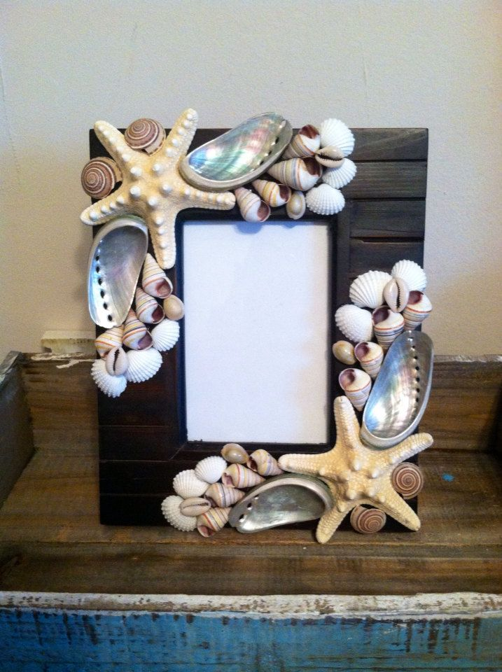 Beach Decor Seashell Picture Frame - Shell Picture Frame - Shell ...