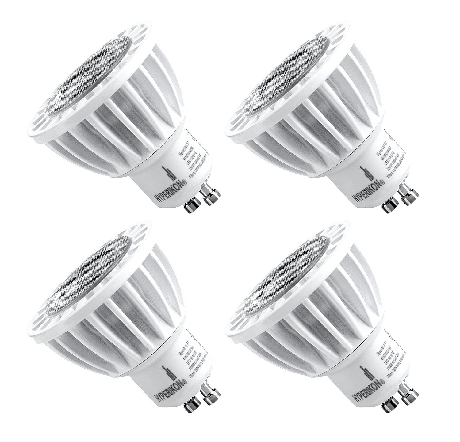 Hyperikon Mr16 Gu10 Led 7w 50w Equivalent 400 Lumen 2700k Warm White Cri 90 120 Volt 40 Beam Angle Dimmable Ul Listed Led Track Lighting Bulb Led