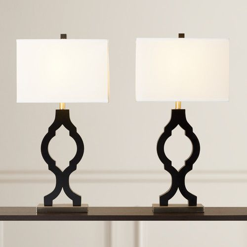 Found it at allmodern bentham 31 75 h table lamp with rectangular shade