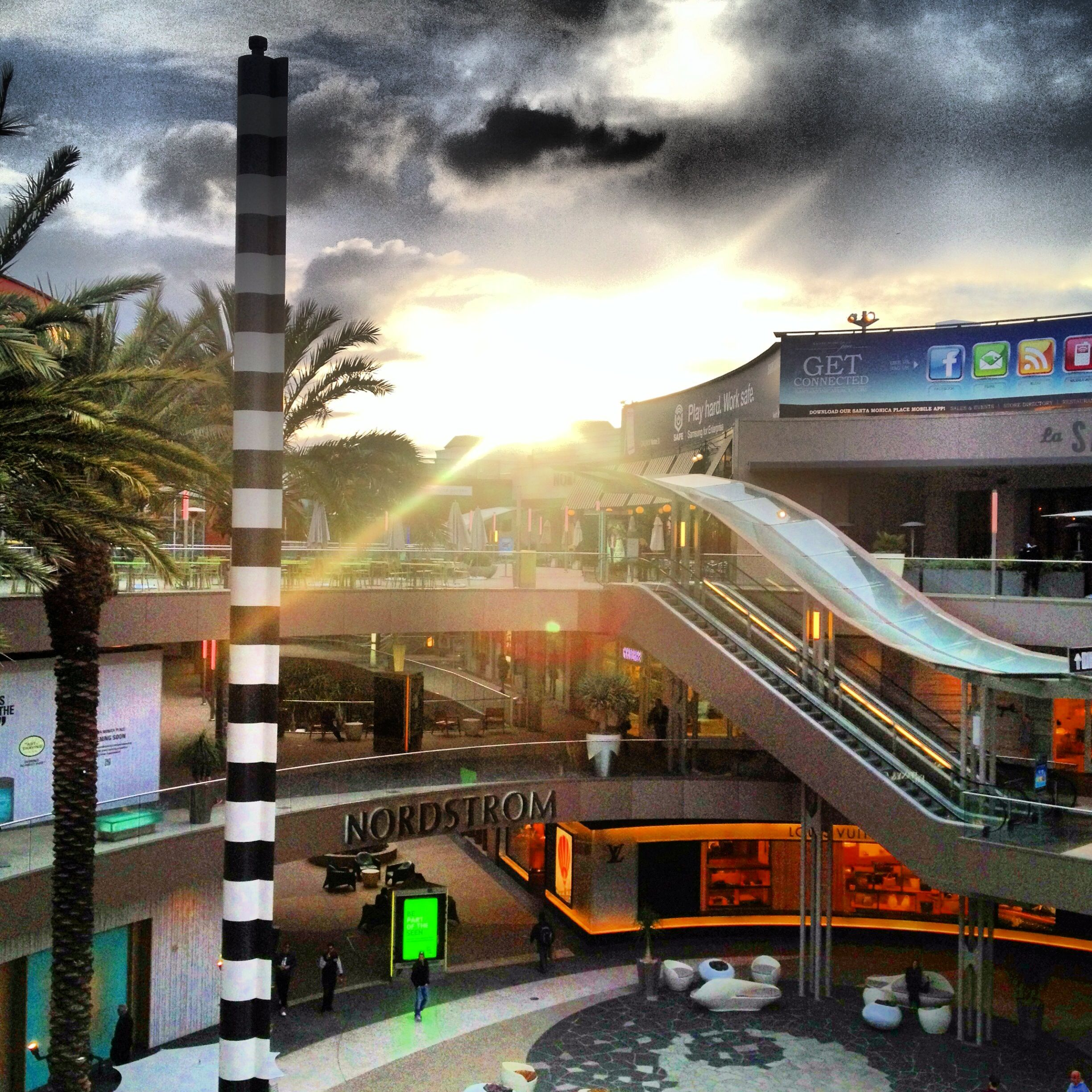 Santa Monica Place Level 3 Dining Deck Lost