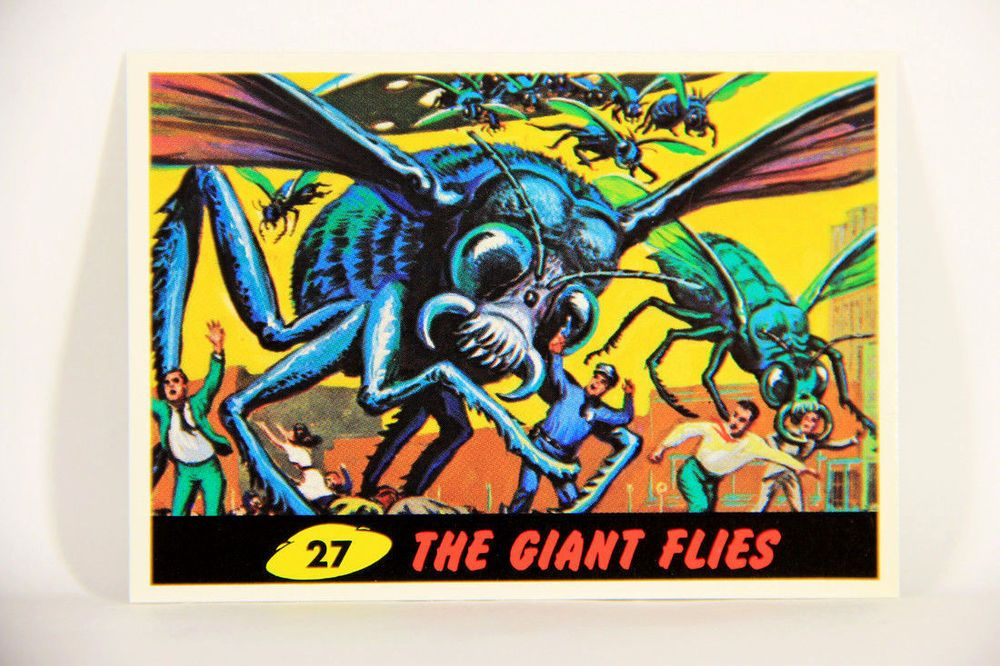 L007290 mars attacks 1994 trading card the giant flies