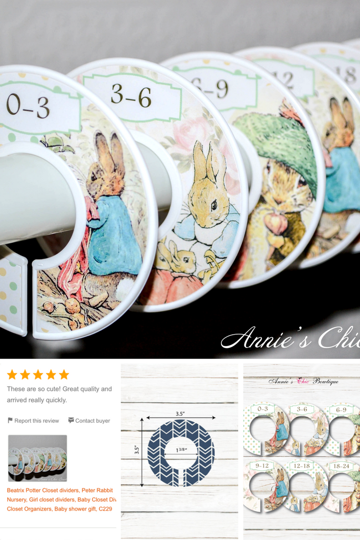 Our Baby Closet Dividers Are The Best Way To Keep Your Baby Clothes  Organized. These Peter Rabbit Designs By Beatrix Potter Are The Cutest Am  Make The Best ...