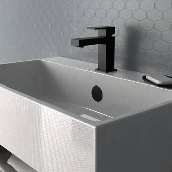 Photo of Deckard Widespread Bathroom Faucet with Drain Assembly