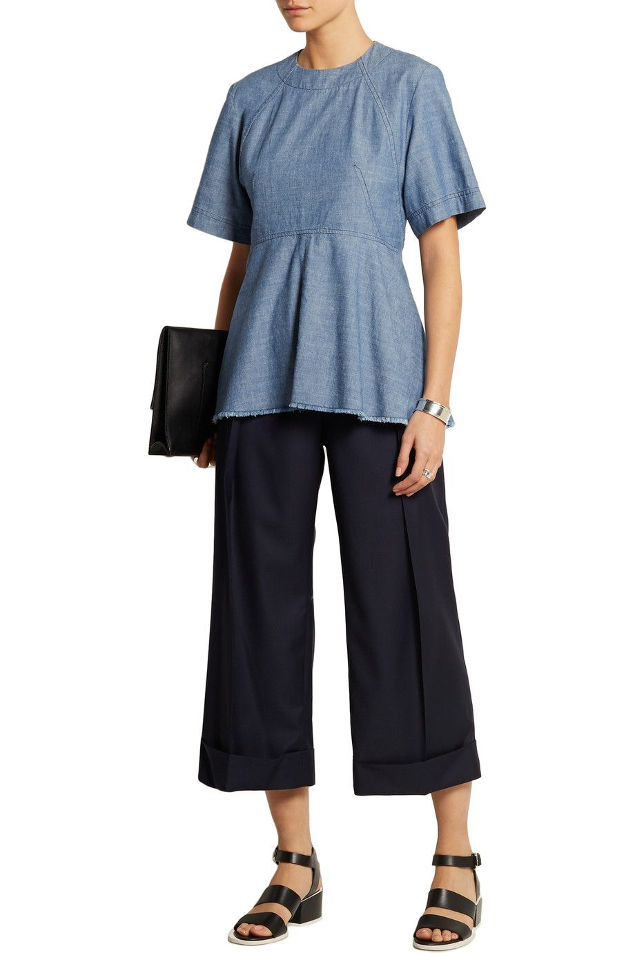 Shop on-sale Proenza Schouler Cotton-chambray top. Browse other discount designer Tops & more on The Most Fashionable Fashion Outlet, THE OUTNET.COM