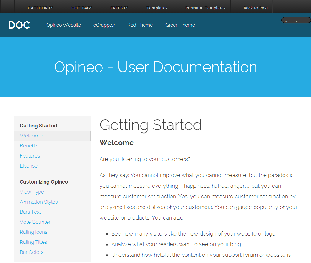FREE Product Documentation HTML Template StockDocs HTML Template - Product documentation template