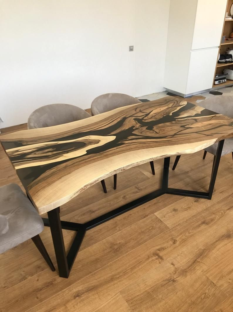 Turquoise Resin River Dining Table Etsy Unique Dining Tables