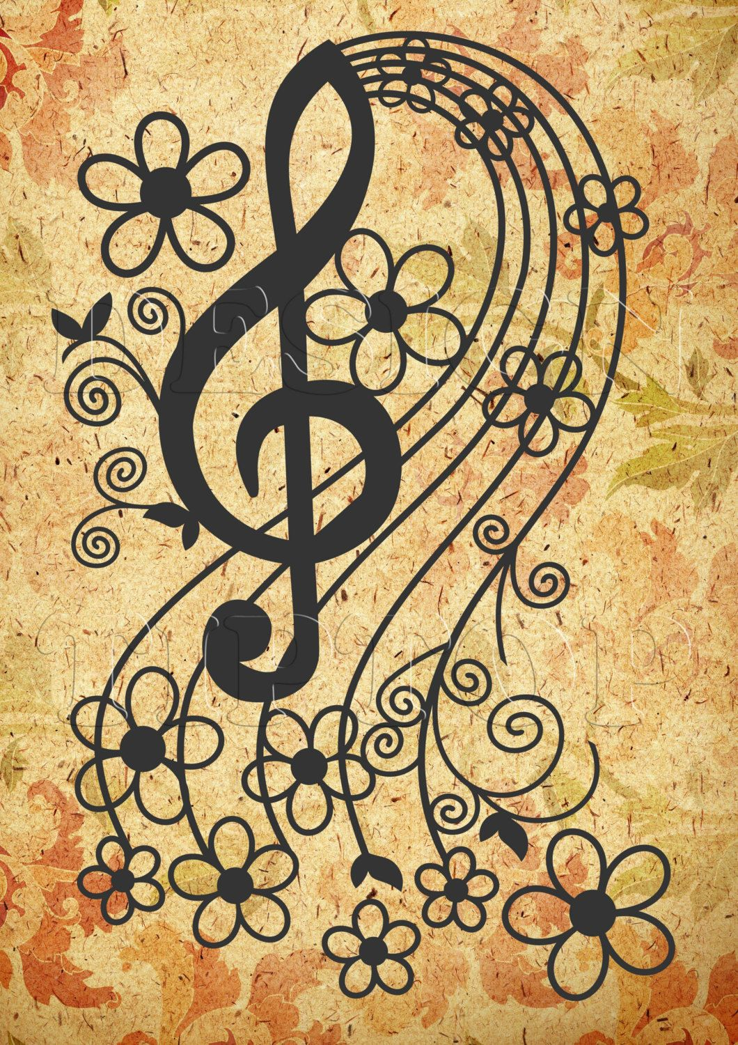 Music key SVG svg dxf png eps cut and print by DesignTipTop | SVG ...