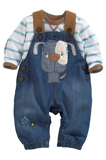 eb9905ec4 Newborn Clothing - Baby Clothes and Infantwear - Next Dog Dungarees ...