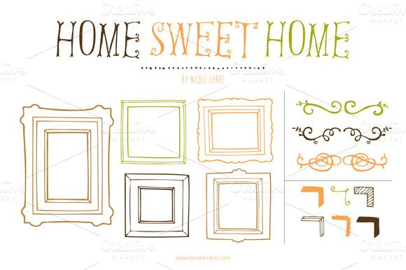 Check out Home Sweet Home (Clipart) by LaRue & Company on Creative Market
