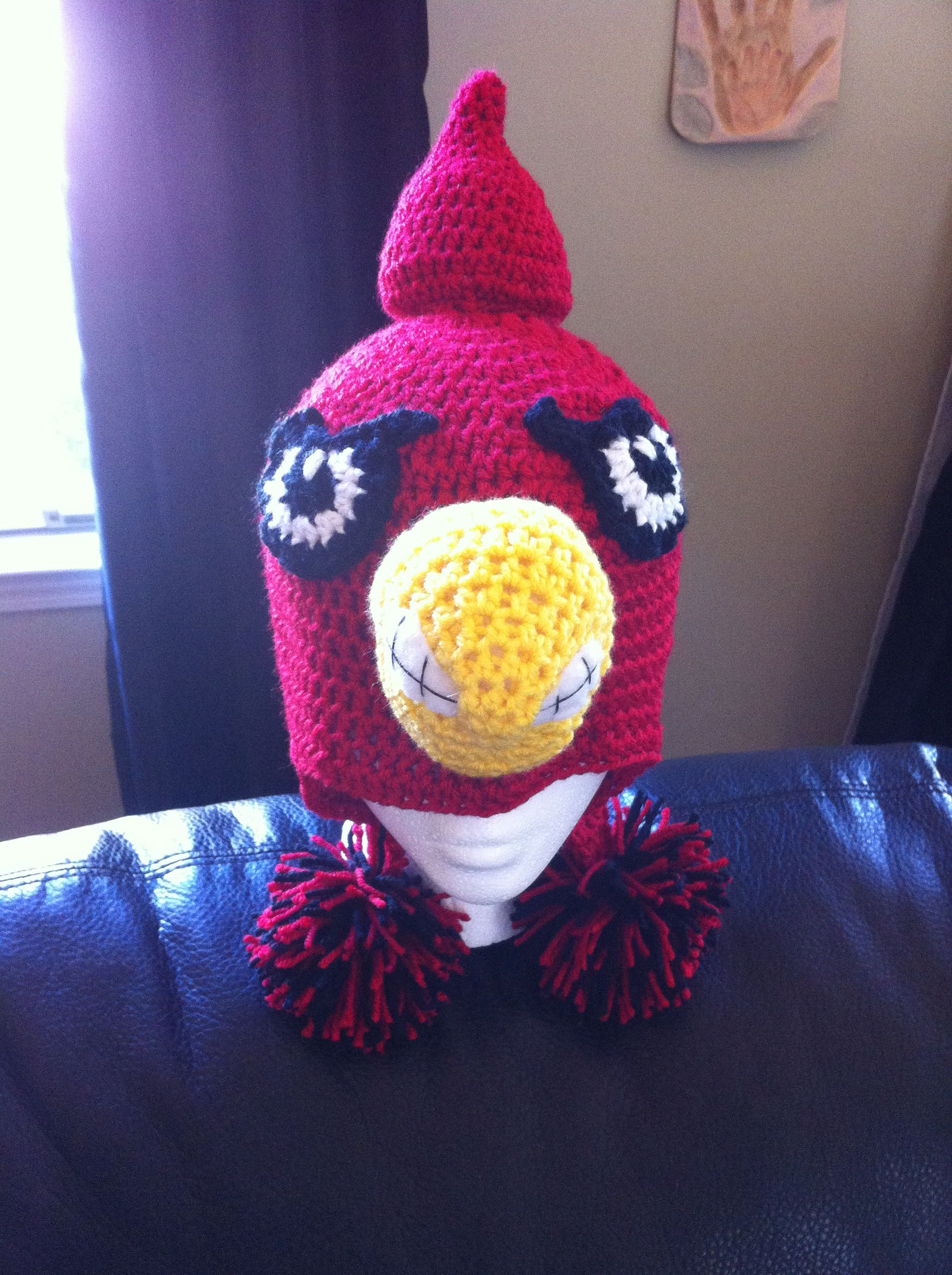 U of L Cardinal Crochet Hat   UofL   Pinterest