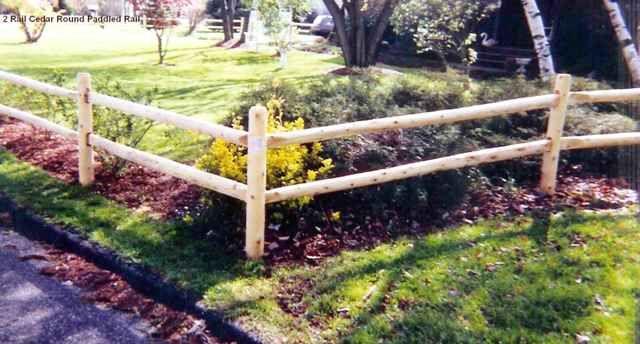 2 Rail Round Rail Post And Rail Fence Garden Yard Ideas Post And Rail Fence Fence Design