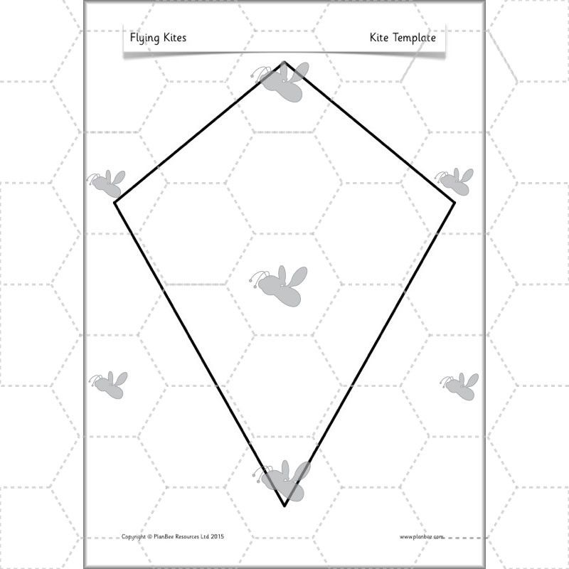 Kite Template K Is For Kite Coloring Page - Twisty Noodle
