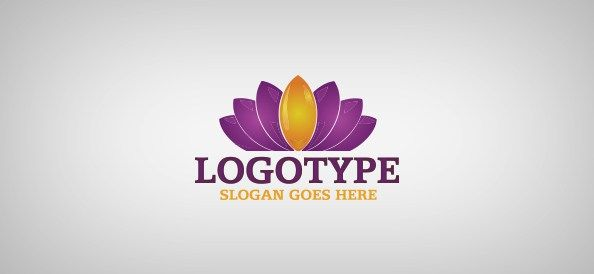 Water Lily Logo Template - Free Logo Design Templates   Adobeify ...