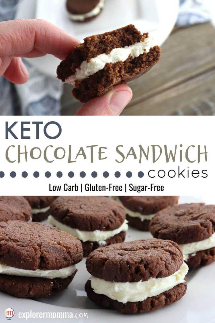 Keto Chocolate Sandwich Cookies #lowcarbyum