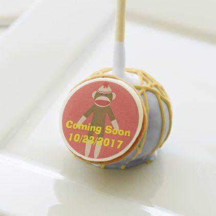 #shower - #Sock Monkey Cake Pops