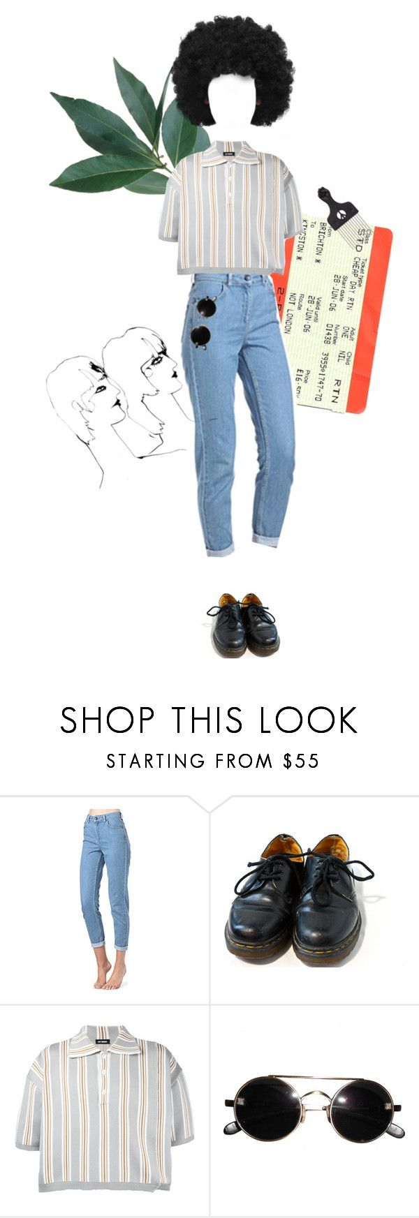 """no. 51"" by girlsaflame ❤ liked on Polyvore featuring Topshop, Dr. Martens and Raf Simons"